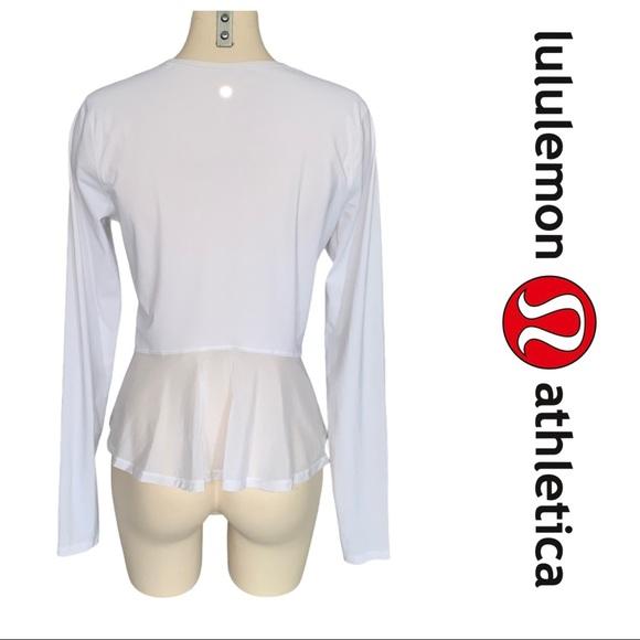 Lululemon Look Ahead Run Long Sleeve White